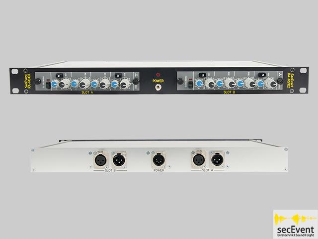 1HE Duo EQ Rack -- SecEvent RA-MS102