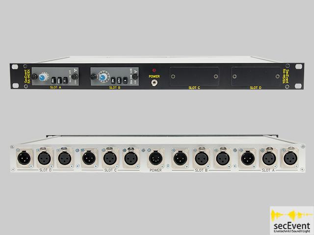 1HE  Quattro Mic-Preamp Rack -- SecEvent RA-MS104