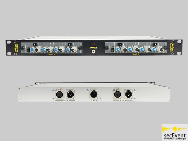 1HE Duo EQ Rack -- SecEvent RA-MS102
